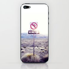 One Way to nowhere iPhone & iPod Skin