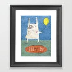 Choose Joy Framed Art Print