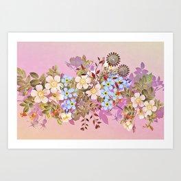 Sweet pastel pink flowers Art Print
