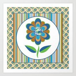 The Earth in Bloom Art Print