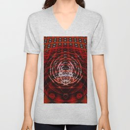 Infinity Field in Perspective Unisex V-Neck