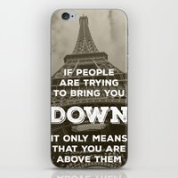 eiffel tower iPhone & iPod Skins featuring Eiffel tower by Solar Designs