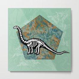 Brachiosaurus Fossil Metal Print