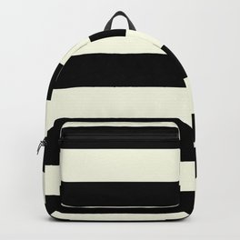 Preppy mid century modern minimalist Paris Chic Black And White Stripes Backpack