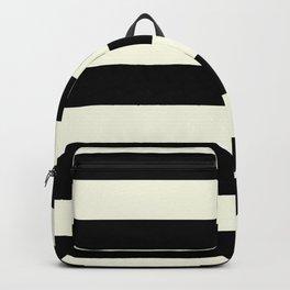 Preppy mid century modern minimalist Paris Chic Black And White Stripes Backpack