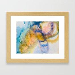 Blue Mood Watercolor Framed Art Print
