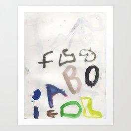 Letters for CORM Art Print