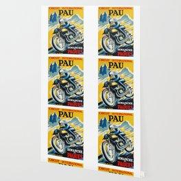 Grand Prix de Pau, Race poster, vintage motorcycle poster, retro poster, Wallpaper