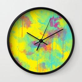 Summer Watercolors Wall Clock