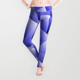 Light overlapping sheets of blue paper triangles. Leggings