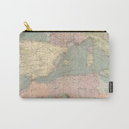 Vintage Map of The Eastern Mediterranean Ports (1905) Carry-All Pouch