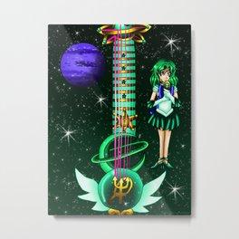 Sailor Moon Guitar #7 - Sailor Neptune (Michiro Kaioh) Metal Print
