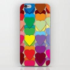 Colored Hearts iPhone & iPod Skin