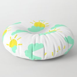 Cloudy Suns Floor Pillow