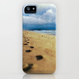 Footprints in the Sand (California Beach) iPhone Case