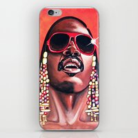 stevie nicks iPhone & iPod Skins featuring Stevie Wonder by Laura-A
