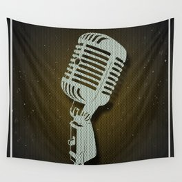 Classic Microphone Wall Tapestry