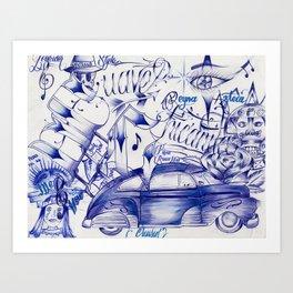 Suave Chicanita Art Print