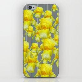 OODLES OF YELLOW IRIS GREY GARDEN ART iPhone Skin
