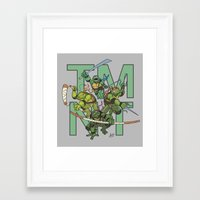 tmnt Framed Art Prints featuring TMNT by Ryan Liebe