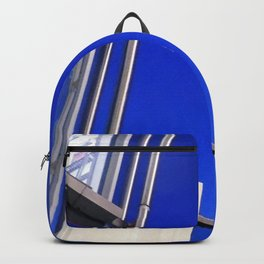 Blue Night Abstract Backpack
