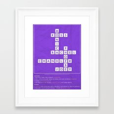 FRIENDS - CROSSWORD Framed Art Print