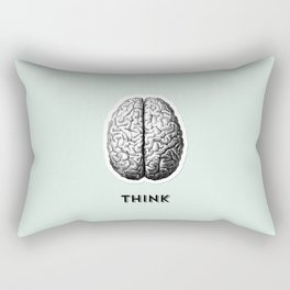 Listen Think Create Rectangular Pillow