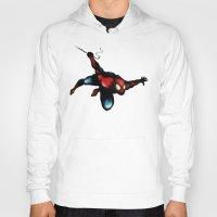 spider man Hoodies featuring Spider Man by Luis Pinto