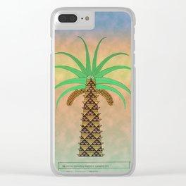 La Palmera Canaria o phoenix canariensis Clear iPhone Case