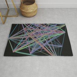 Geometric Diamond Light Prism Rug