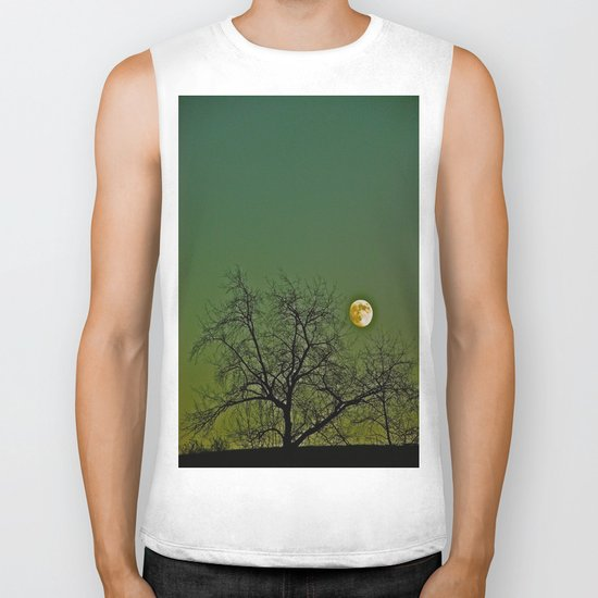Tangled Tree Moon Biker Tank