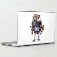 cowboy Laptop & iPad Skins featuring cowboy owl by Кaterina Кalinich