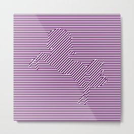 Pattern horse Metal Print