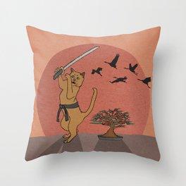 Karate Kat Throw Pillow