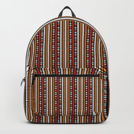 Beaded Fabric Pattern Backpack
