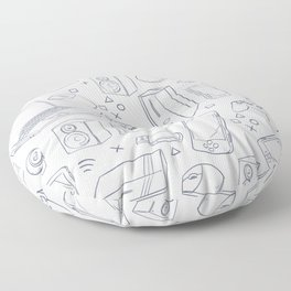 Computer Gaming Video Game Pattern Floor Pillow
