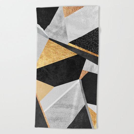 Geometry / Gold Beach Towel