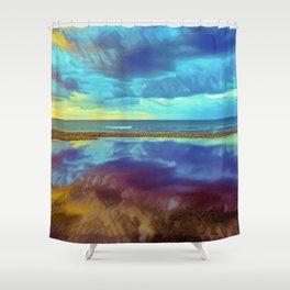 Dramatic Seascape Shower Curtain