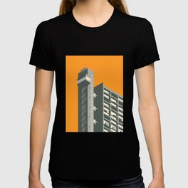 Trellick Tower London Brutalist Architecture - Orange T-shirt