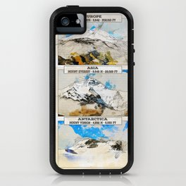 7 Summits, the worlds highest mountains iPhone Case