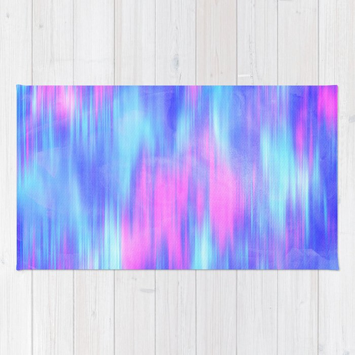 royal blue rug. Aurora - Blur Abstract In Pink, Purple, Aqua \u0026 Royal Blue Rug A