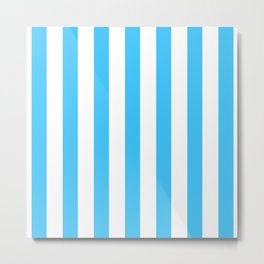 Blue and whie stripes Metal Print