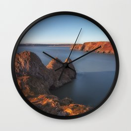 Rugged Three Cliffs Bay and the Great Tor Wall Clock