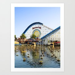 Coaster On the Waterfront Art Print