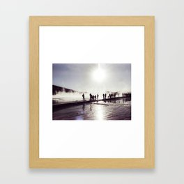 Silhouettes in Yellowstone Framed Art Print
