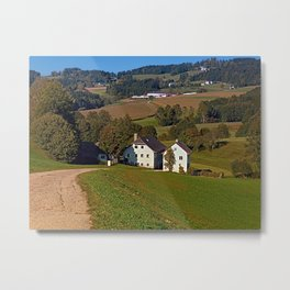 Beautiful traditional farmland scenery | landscape photography Metal Print