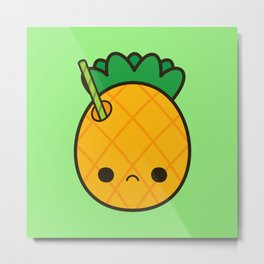 Yummy pineapple cocktail Metal Print