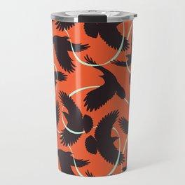 Crows with Ribbon Travel Mug