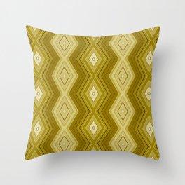 Sepia stripes pattern Throw Pillow