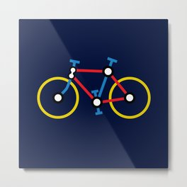 Tube Bike Metal Print